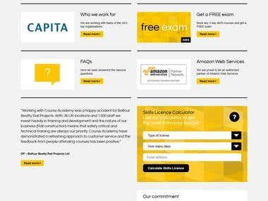 Course Academy Bootstrap Responsive HTML