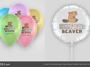 Happy Beaver promo souvenir design