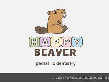 Happy Beaver clinic logo development