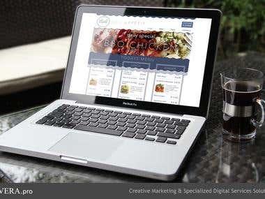 Lanta Cafe web site design and HTML-layout