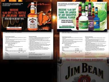 Jim Beam P.O.P. Tear Pad