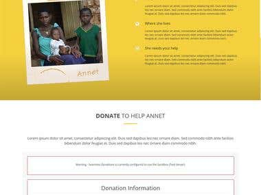 """""""SongForAnnet"""" Donation Website"""