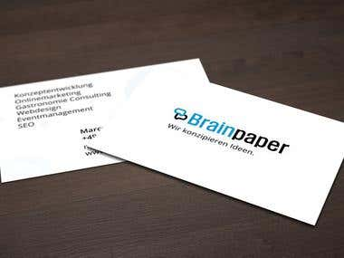 Brainpaper logo and businesscards