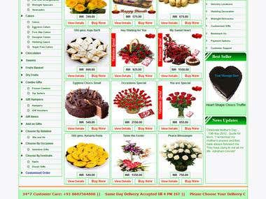 The snap of floralgiftshp website