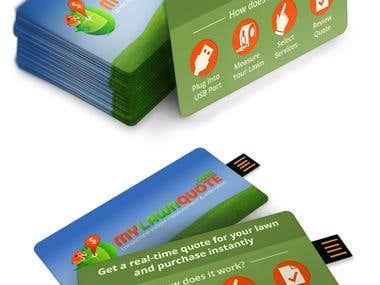 MyLawnQuote Promo USB Card