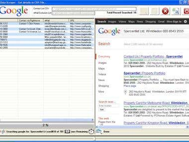 Scrap Email IDs from various webpages using Google Search