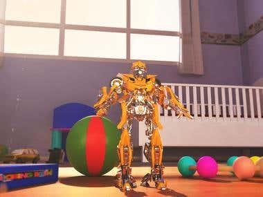 BumbleBee Toy Complete Render