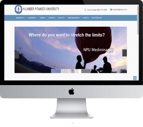 NILAMBER PITAMBER UNIVERSITY DYNAMIC WEBSITE