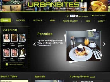 Restaurant and reservation website