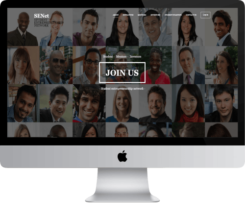 SENET 'Student Entrepreneurship Network' Website