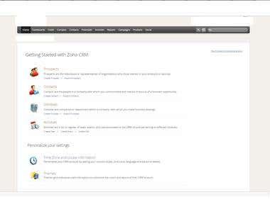 CRM ZOHO, E-books, Revisez quelque chose, Assistance virtuel