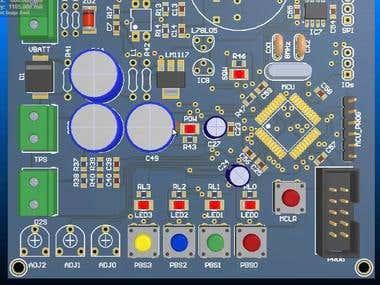 3D PCB designing,,,
