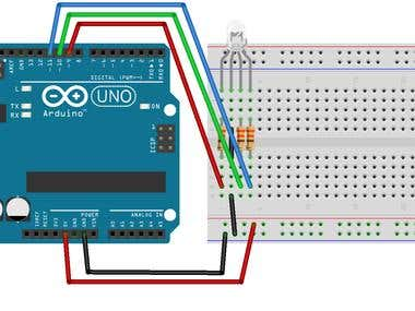 RGB LED simulation using arduino,,,