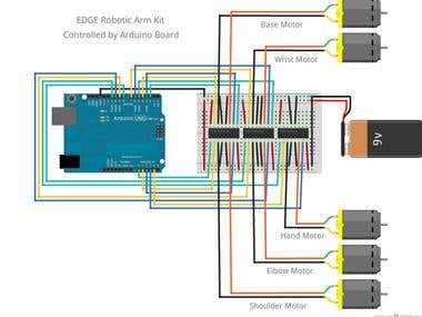 Arduino Simulation for Stepper motor,,