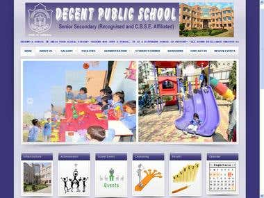 Decentpublic School Website