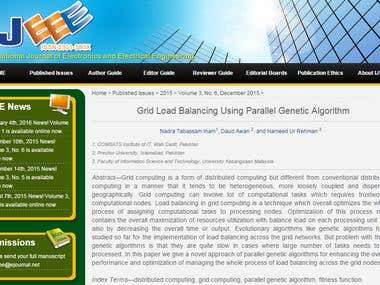 Grid Load Balancing Using Parallel Genetic Algorithm