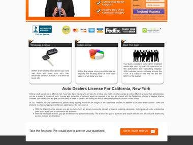 Auto Dealers License site