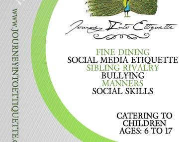 Business Flyer done for Journey into etiquette school (Back)