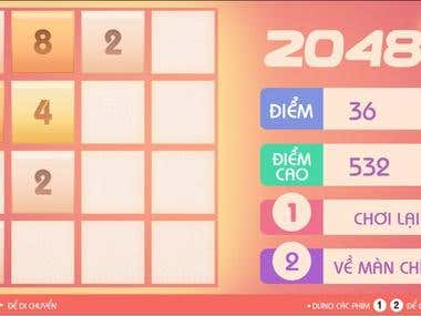 2048 - A Simple HTML5 game for TV