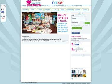 A coupon listing site