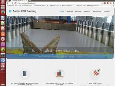 Business website for aadya ced coatings