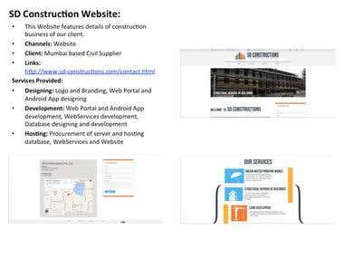 SD Construction Website