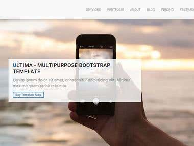 Bootstrap template for sale
