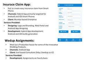IBM Worklight & WedUp Assignments