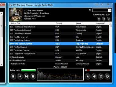 inLight Radio Player