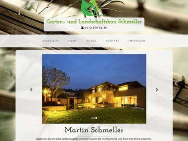 Gartenbau Website