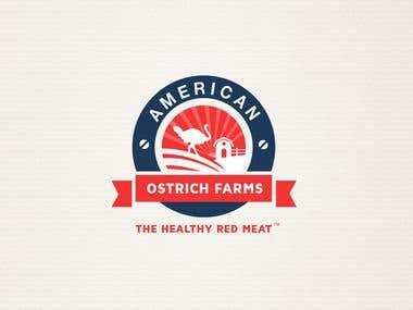 american ostrich farm logo