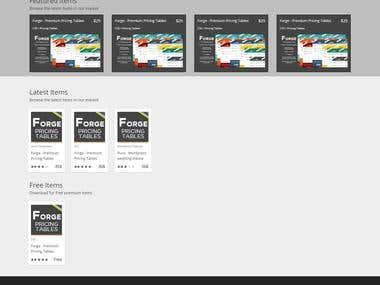 Wordpress themes, plugins, html templates Market Place