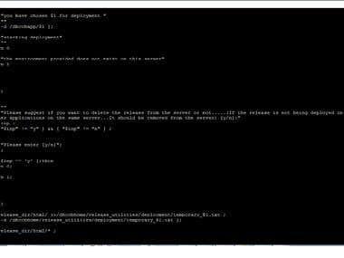 Shell Script For Deployment