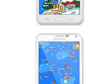 Game design and development Christmas Snowman Jump
