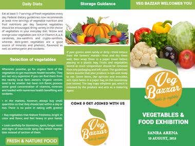 Brochure for Vegetable store