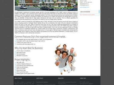 Construction Company Website development
