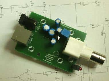 pH probe amplifier board