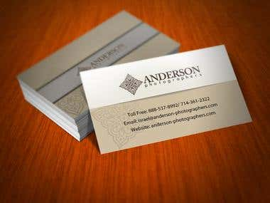 Business card design for Anderson Photography