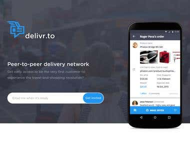 DELIVR.TO - P2P delivery social network.