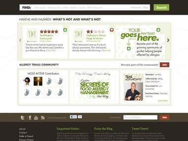 Allergytrails (WordPress Design)