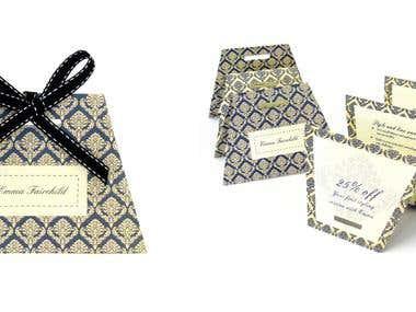 Emma Fairchild personal shopper brochure design