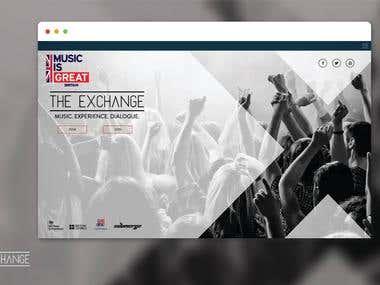 Website for The Exchange | Mumbai, India