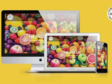 Website for The Juice Lab | Melbourne, Australia