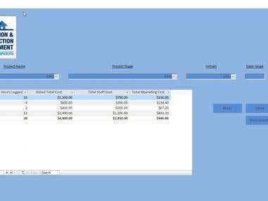 Access Database for Project Management