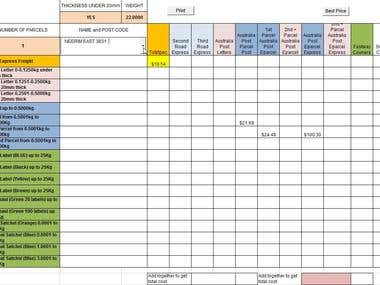 Macro-enabled Excel Spreadsheet