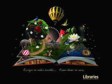 Illustration for Auckland City Libraries