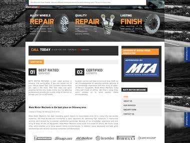 Mate Motor Mechanic, website development