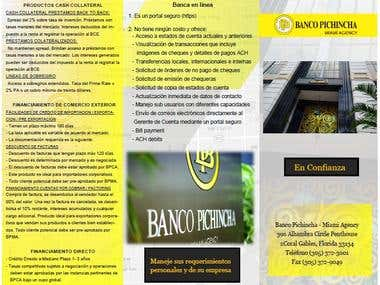 Brochure Bank Pichincha Miami Agency (freelancer.com´s work)