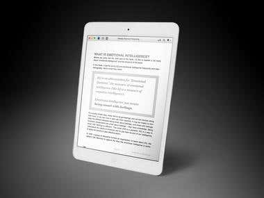 Kindle, Epub & iBook Design