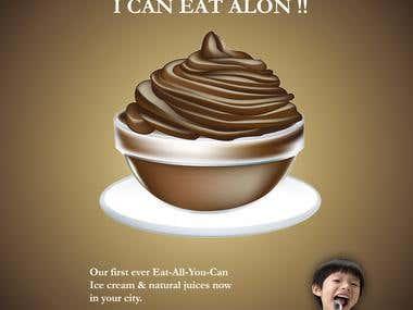 Glaciera Ice-Cream - Poster Design